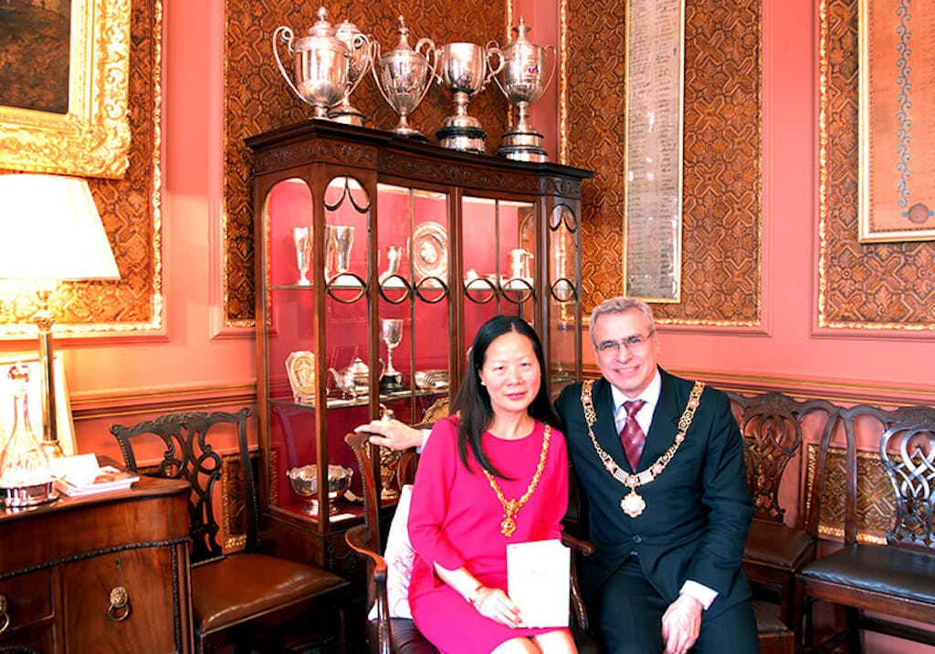 Mei-Ling and Andrew at the mayors office
