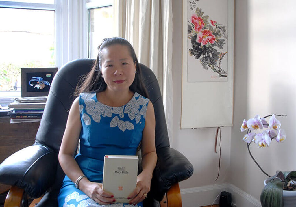 Mei-Ling with her precious bible