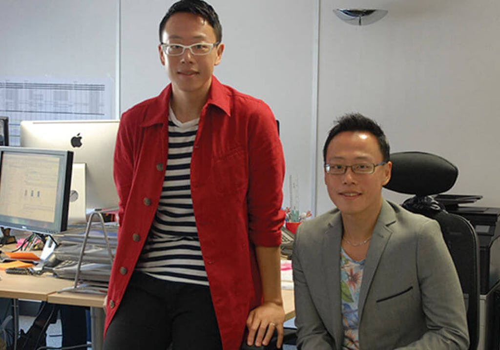 Shane Carnell-Xu and Jake Xu in their office