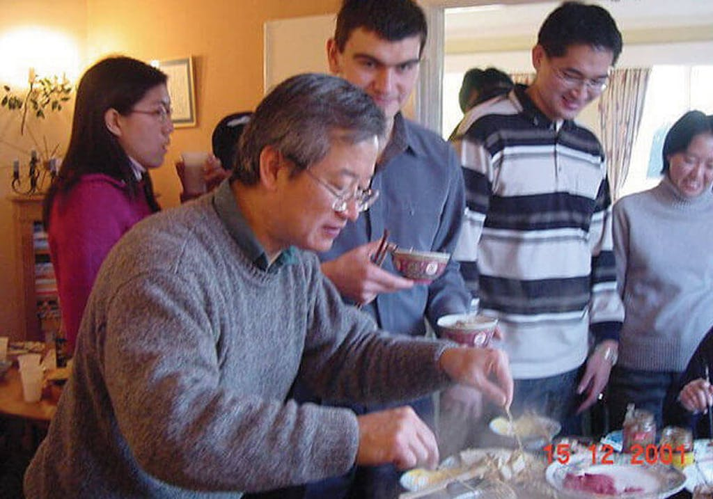 Family gathering:  hot-pot and afternoon tea, 2001
