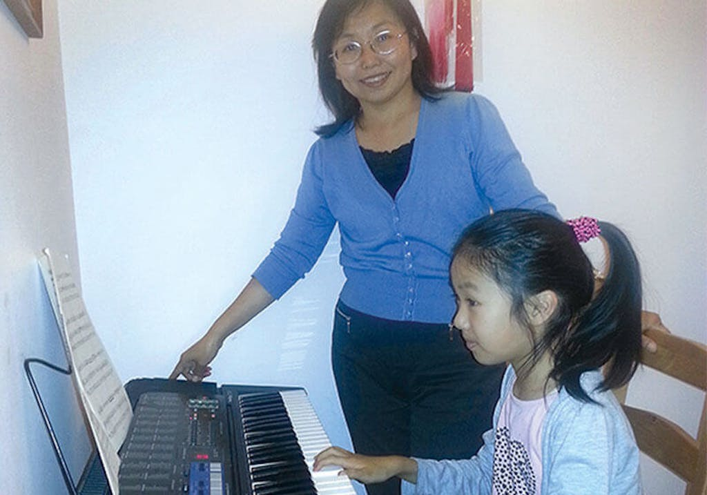 The Keyboard Dr. Zang bought years ago from China is now enjoyed by her daughter. Bath, 2013