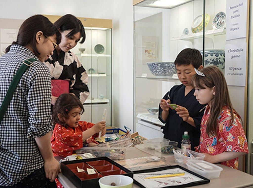 Kids enjoying activities in Japan Festival