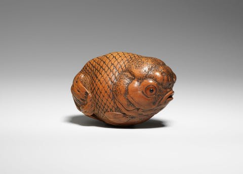 Goldfish. Masanao I of Ise, Japan, 1815–90. ©The Trustees of the Bristish Museum