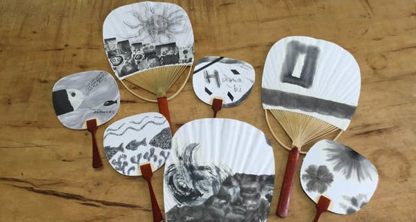 event image for Japanese Sumi (ink) Painting on Fans