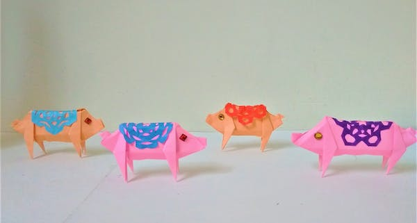 event image for Lunar New Year Origami – Fortune Piglets
