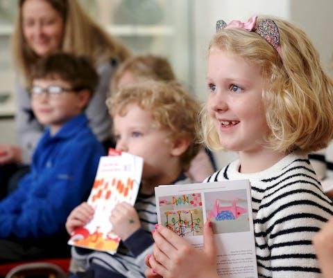 Children enjoying a storytelling session