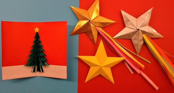 Origami Christmas.Origami Christmas Magic Stars Or Card Making Museum Of