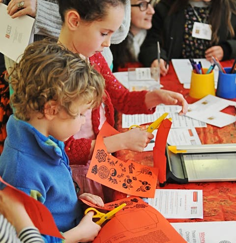 family craft activities at the Museum, school programme